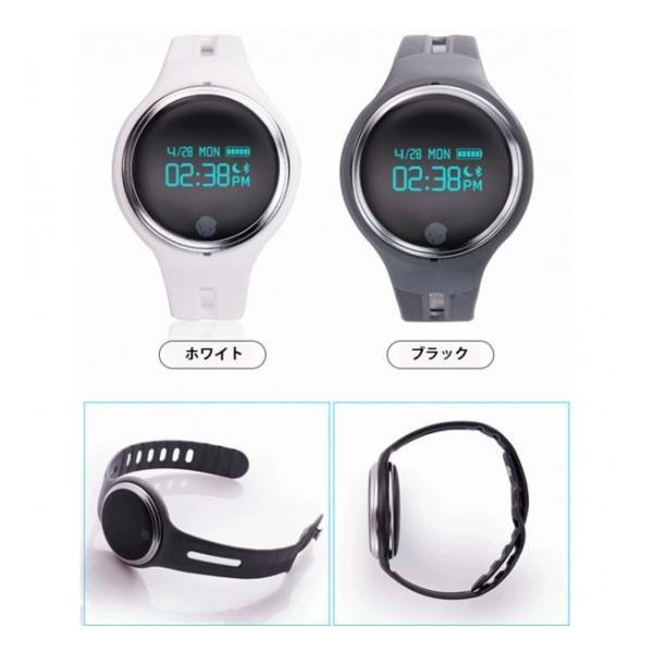 スマートウォッチ E07 丸形デジタル腕時計 日本語対応 ブルートゥース iPhone Android対応 日本語対応|shopping3212|02