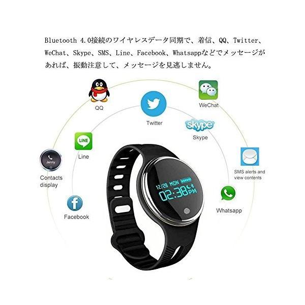 スマートウォッチ E07 丸形デジタル腕時計 日本語対応 ブルートゥース iPhone Android対応 日本語対応|shopping3212|15