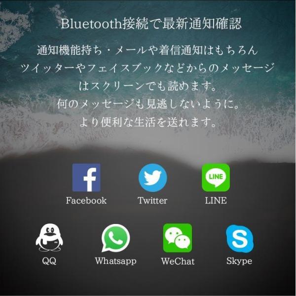 スマートウォッチ E07 丸形デジタル腕時計 日本語対応 ブルートゥース iPhone Android対応 日本語対応|shopping3212|05
