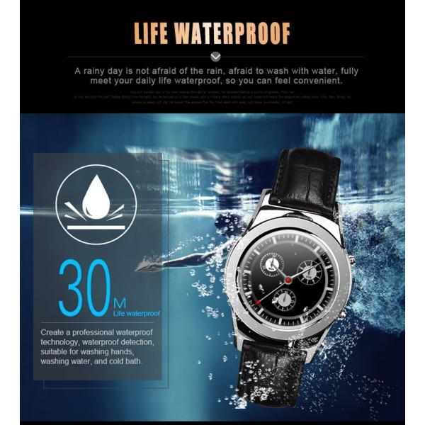 スマートウォッチLW01 Bluetooh4.0 高級皮のバンド 心拍測定/歩数計/遠隔写真撮り/など多機能腕時計 日本語対応|shopping3212