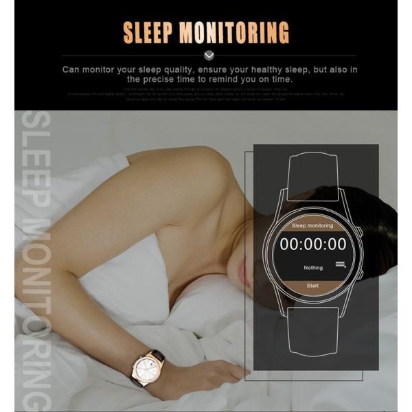 スマートウォッチLW01 Bluetooh4.0 高級皮のバンド 心拍測定/歩数計/遠隔写真撮り/など多機能腕時計 日本語対応|shopping3212|15