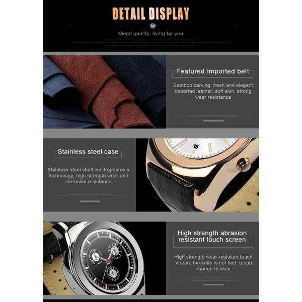 スマートウォッチLW01 Bluetooh4.0 高級皮のバンド 心拍測定/歩数計/遠隔写真撮り/など多機能腕時計 日本語対応|shopping3212|18