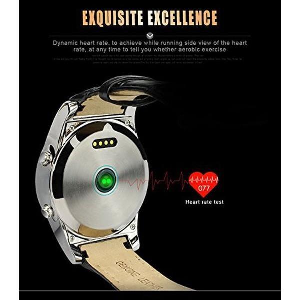 スマートウォッチLW01 Bluetooh4.0 高級皮のバンド 心拍測定/歩数計/遠隔写真撮り/など多機能腕時計 日本語対応|shopping3212|04
