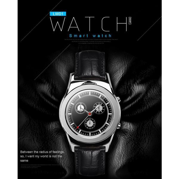 スマートウォッチLW01 Bluetooh4.0 高級皮のバンド 心拍測定/歩数計/遠隔写真撮り/など多機能腕時計 日本語対応|shopping3212|05