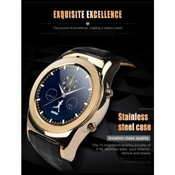 スマートウォッチLW01 Bluetooh4.0 高級皮のバンド 心拍測定/歩数計/遠隔写真撮り/など多機能腕時計 日本語対応|shopping3212|07