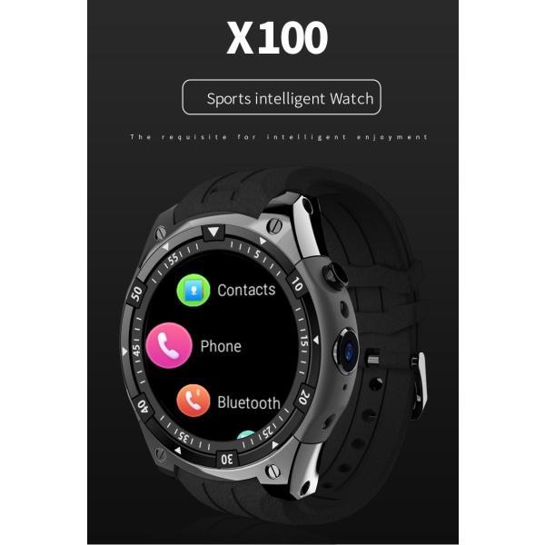 スマートウォッチ X100 MTK6580 Bluetooth アンドロイド 時計 IP67 防水 GPS スマート腕時計サムスンギア S3 レノボ腕時計 9 KW88 QW09 HUAWEI shopping3212 02
