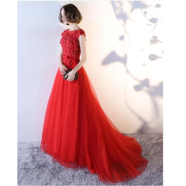 302193f422063 ... ロングドレス ブルードレス パーティドレス 上品な ピンク ワンピース 締上げタイプ 綺麗なレース ...