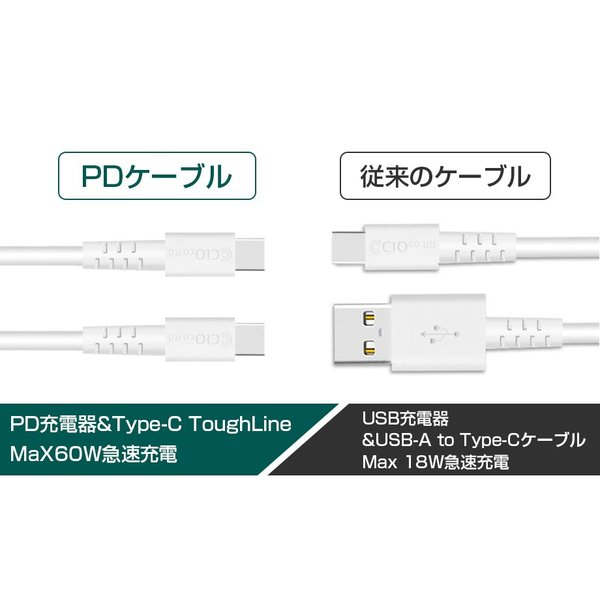 Type-Cケーブル PD 急速充電 高速充電 タフライン ToughLine タイプC USB-C PowerDelivery 3V 20V 60W Galaxy PC shops-of-the-town 06
