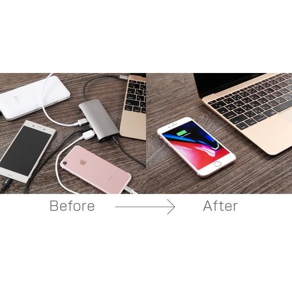 deskHack 机 qi ワイヤレス充電器 急速充電 7.5W/10W iPhone8 X 11 Pro Max galaxy shops-of-the-town 04