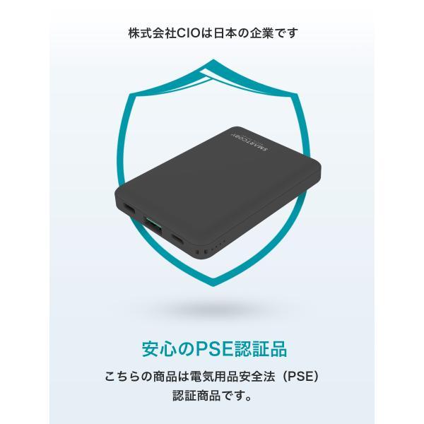モバイルバッテリー iPhone 大容量 8000mAh かわいい 最軽量 小型 SMARTCOBY タイプC Lightning入力 PD3.0 QC3.0 パススルー iPhone11 USB-C アイフォン shops-of-the-town 12