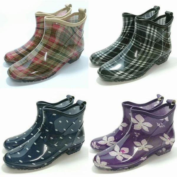 ガーデニング ブーツ レインブーツ ショート丈 長靴 婦人 レディース 作業靴 雨靴 長靴 完全防水 掃除 ベランダ 家庭菜園 送料無料