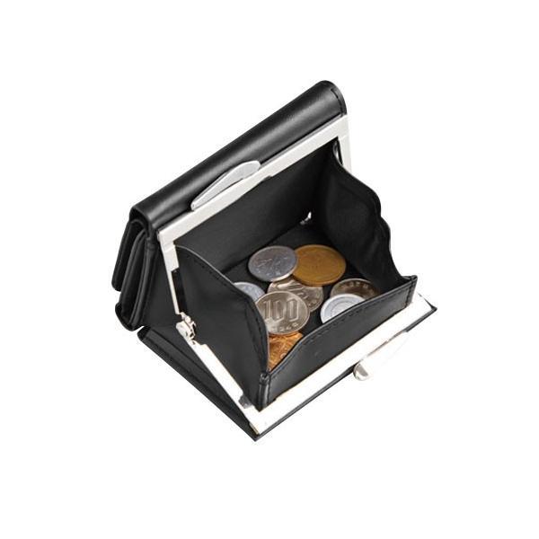 大きく開くガマ口タイプのミニ財布 shoptakumi