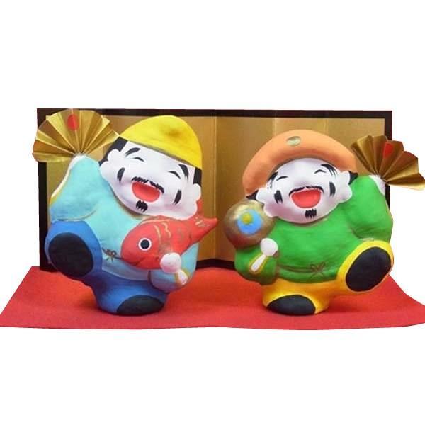 縁起置物 張り子人形 あっぱれ恵比寿・大黒 shoptakumi