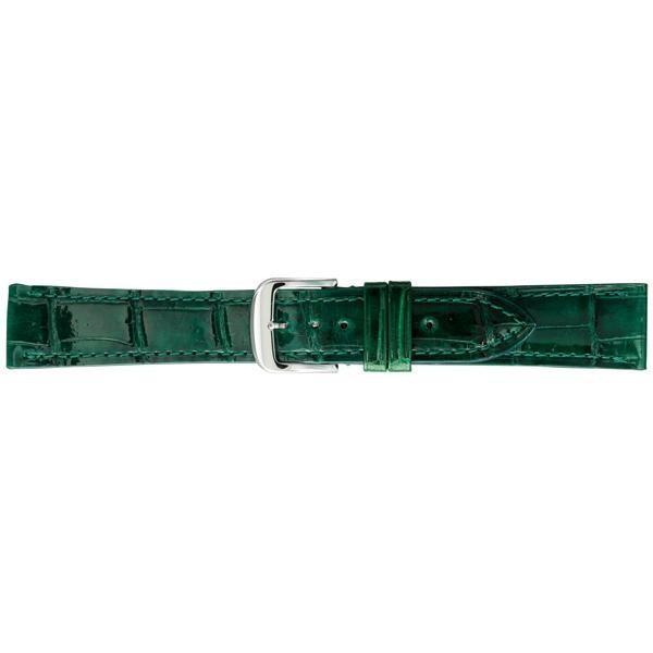 BAMBI バンビ 時計バンド グレーシャス ワニ革(クロコダイル) グリーン BWA005MP|shoptakumi