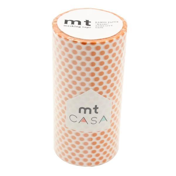 mt CASA マスキングテープ 100mm ドット・マンダリン MTCA1100