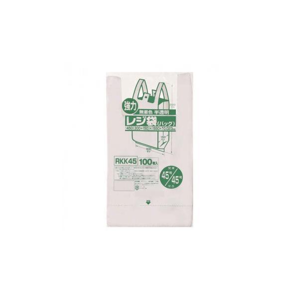 ジャパックス レジ袋 関東45号/関西45号 半透明 100枚×10冊×2箱 RKK45 代引き不可