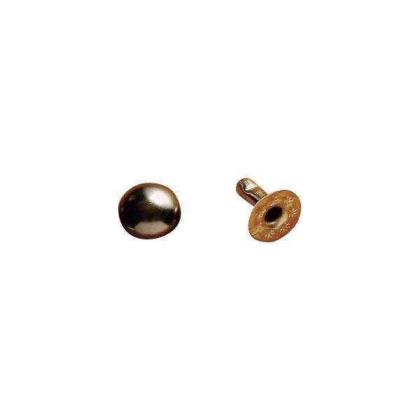 クラフト社 レザークラフト用 金具飾りカシメ 中 20個 I(イブシ) 1041-04