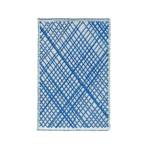 ROMBUS コットンラグ クロス/ブルー|shopv