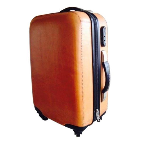 Leather スーツケース/ナチュラルブラウン shopv