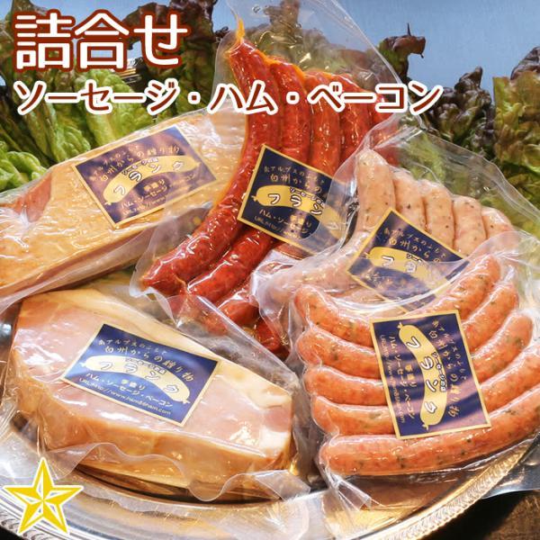 食べ応えの ベーコン・ハムセット ソーセージ3種類 オールドベーコン カスラハム お歳暮 ギフト