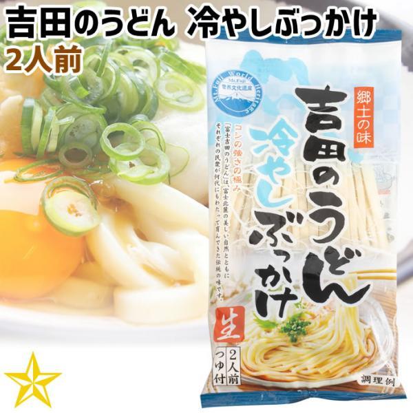 うどん 山梨県 ご当地グルメ ご当地麺 ワタショク 吉田のうどん 冷やしぶっかけ 2人前