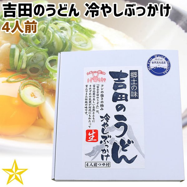 うどん 山梨県 ご当地グルメ ご当地麺 ワタショク 吉田のうどん 冷やしぶっかけ 4人前