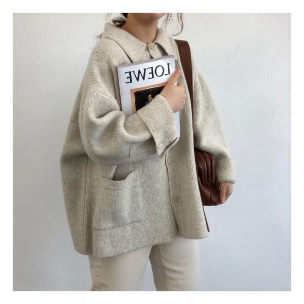 オーバーサイズニットジャケット shopwonder