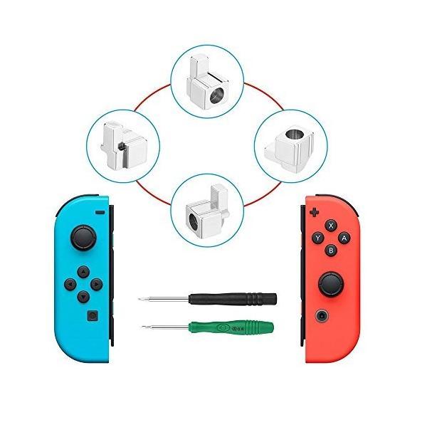Nintendo Switch Joy-Con交換部品 ジョイコン 尾錠 修理パーツ コントローラー Joy-Conのレール構造で耐久性の問題解決|shopyamamoto
