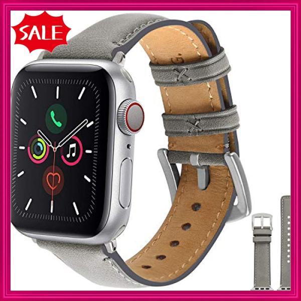 Fullmosa Yola アップルウォッチ バンド レザー 44mm 42mm 40mm 38mm コンパチ apple watch 交換用 本革 アップルウォッチ5 4 3|shopyamamoto