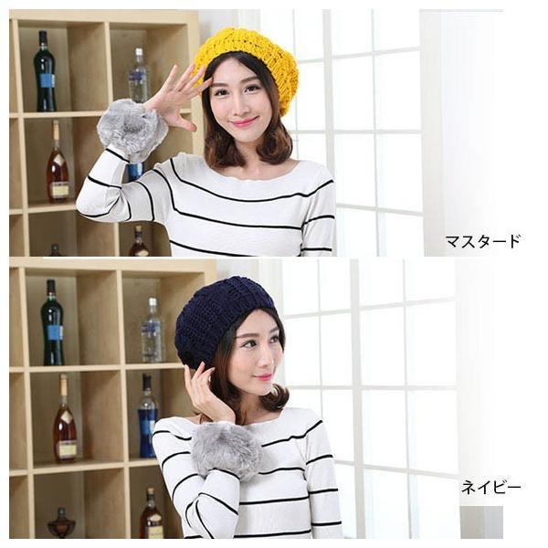 レディース 帽子 ニットベレー帽 ニット帽 ベレー帽 ゆったり 秋 冬 ふわふわ 毛糸 暖か ざっくり 編み ベーシック mz2288|shopzero|06