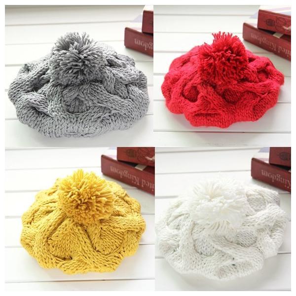 レディース 帽子 ポンポン付きニット帽 ニットベレー 毛糸帽子 mz2320|shopzero|09