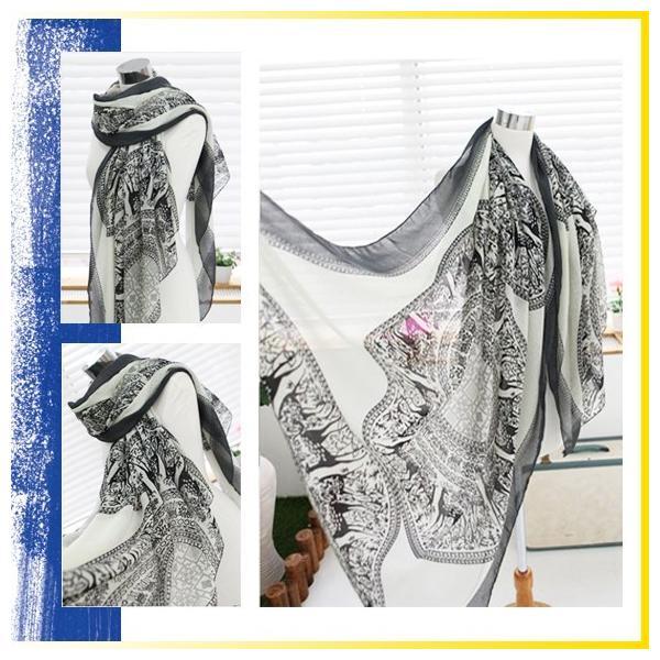 レディース ストール ビスコースストール 大判 スカーフ UV 紫外線 sj2426|shopzero|04