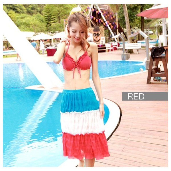 レディース 水着3点セット ビキニ 2way シフォン ワンピース 大きいサイズ 夏 yy2491|shopzero|09
