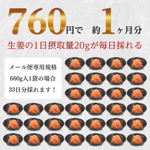 紅ショウガ 660g 1袋 クリックポスト送料無料 紅生姜 紅しょうが ポイント消化 お試し 食品|shougakoubou|02
