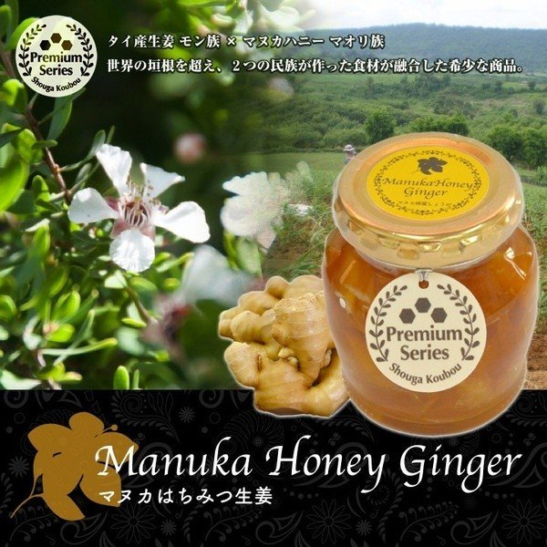 マヌカ蜂蜜しょうが 170g 1本|shougakoubou