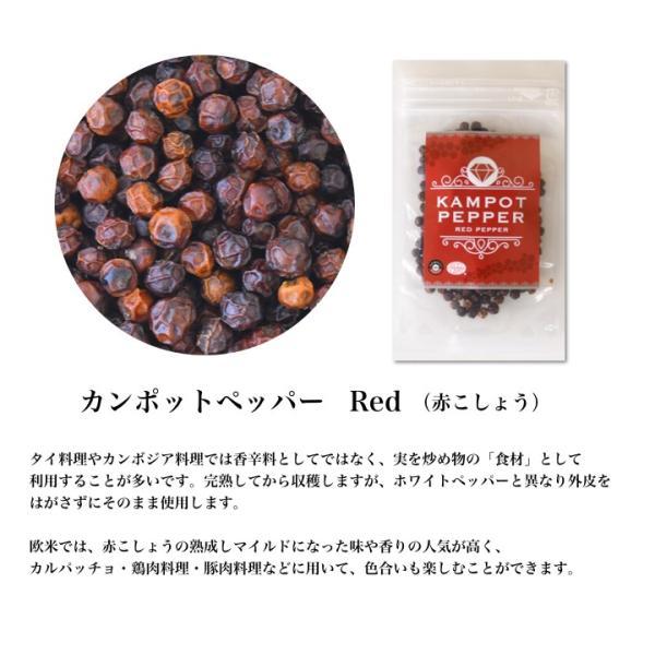 カンポット・ペッパー 黒・白・赤胡椒 各20g 3点セット クリックポスト送料無料|shougakoubou|05