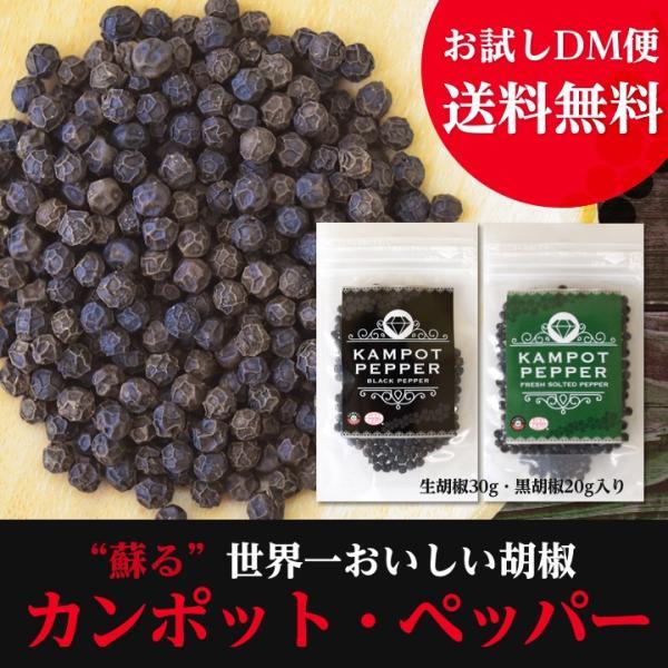 カンポット・ペッパー 生胡椒 30g + 黒胡椒 20g クリックポスト送料無料|shougakoubou