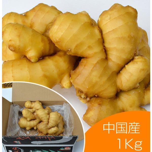 【青果】食用 中国産 黄金生姜 近江生姜 黄 1kg shougakoubou