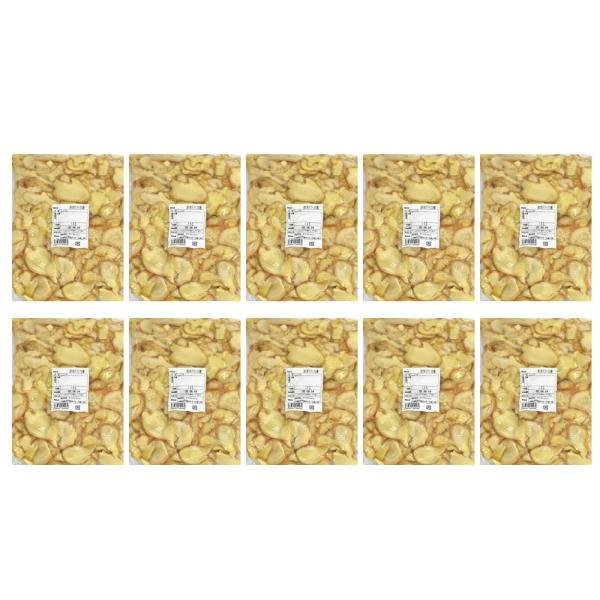 冷凍 皮付きスライス生姜 1kg×10パック 高知県産 一次加工品