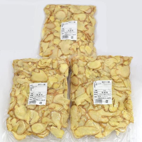 冷凍 皮付きスライス生姜 1kg×3パック 高知県産  一次加工品