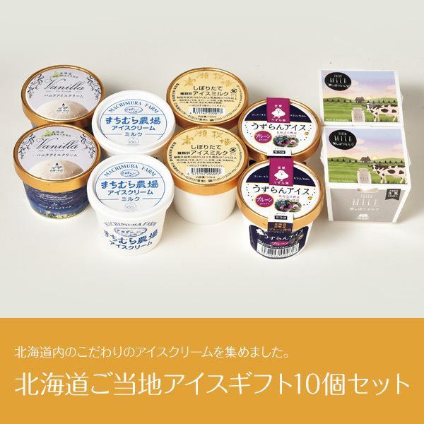 北海道ご当地アイスギフト10個(5種×2個)セット産地直送アイス洋菓子スイーツ詰め合わせギフト贈りもの