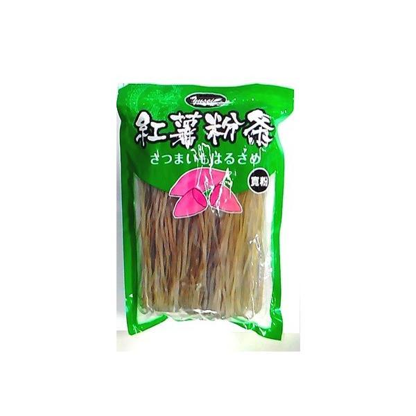 横浜中華街 友盛 純天然緑色食品 紅薯寛粉条 さつまいも春雨 400g、寛平麺(3-4mm)、幅広い料理にご使用できます♪(包装の変更があります)
