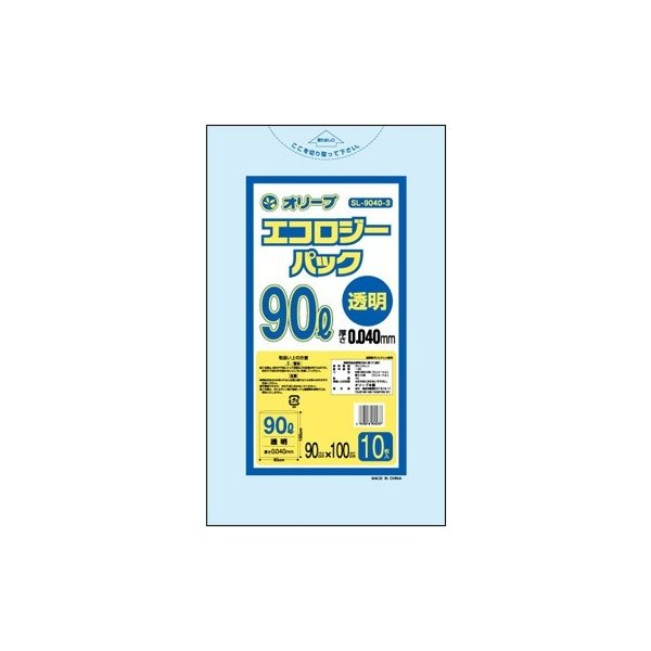 90Lゴミ袋   業務用 安い 【0.04mm厚 90L (透明)】900x1000cm  10枚入りx30冊  showa-shokai 02