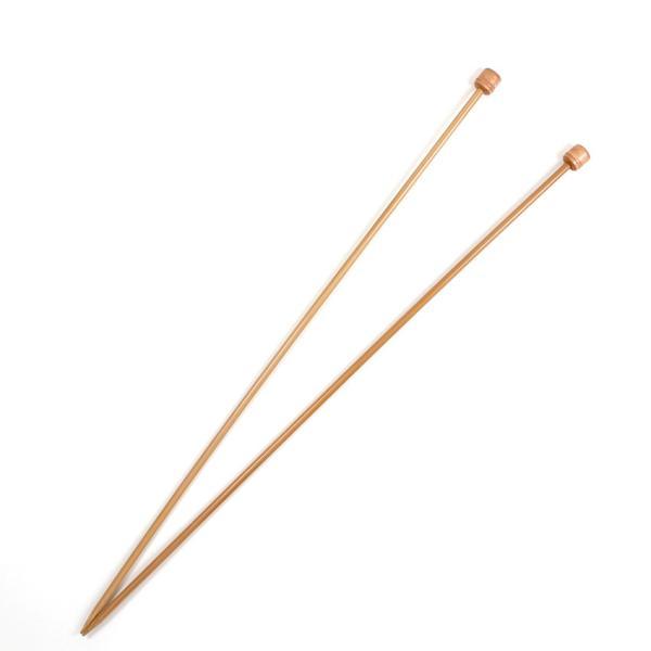 マミー 硬質玉付2本針 35cm 単品 6号・7号・8号・9号・10号・11号・12号・13号・14号・15号|棒針 編み針 トーカイ