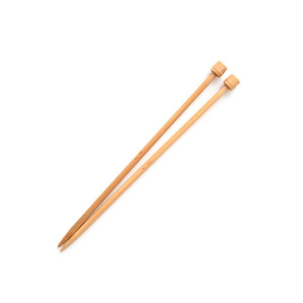 ミニ玉付2本針 23cm 単品 5号・6号・7号・8号・9号|棒針 編み針 トーカイ