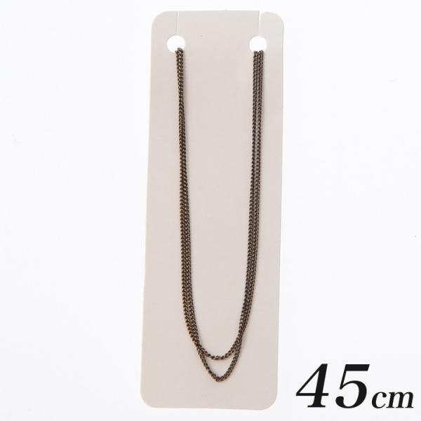 ネックレスチェーン(金具付)キヘイ1.2×1.9mmヒキワ・板ダルマ45cmアンティークゴールド | 日本製 国産 キヘイ チェーン 喜平 ネックレス セット アクセサリー