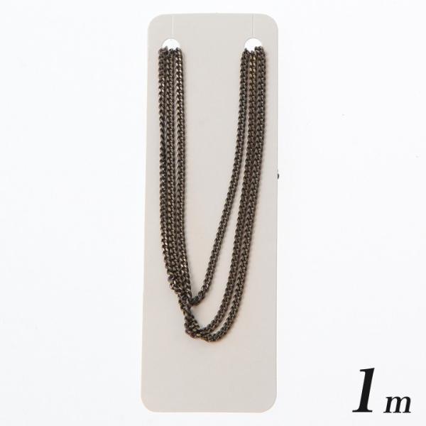 キヘイチェーン カット線径0.35mm約1.9×2.5mmアンティークゴールド1m | 日本製 国産 キヘイ チェーン 喜平 ネックレス アクセサリー