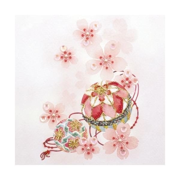 ビーズデコール 日本の四季 4月 さくらとまり BHD43 | MIYUKI ビーズ クラフト ハンドメイド|shugale1