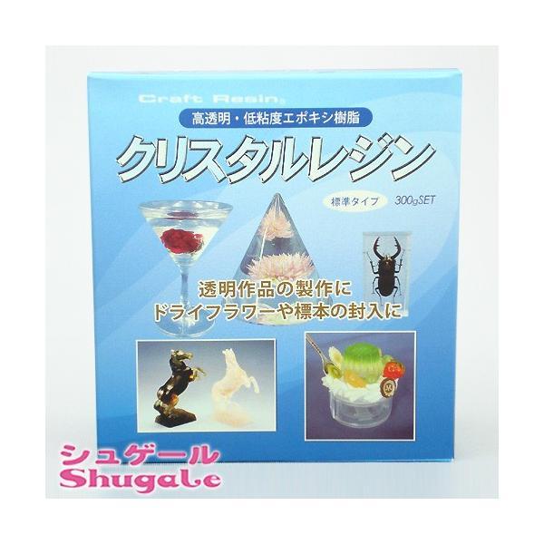 粘土 用具 型取り・注型材料 クリスタルレジン 0.3kgセット|shugale1