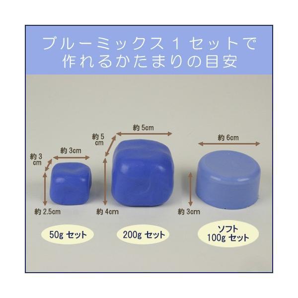 粘土 用具 型取り・注型材料 ブルーミックスII 400gセット アグサジャパン |shugale1|02